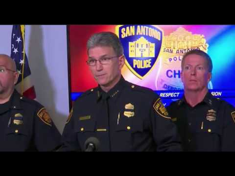 San Antonio Police Press Conference On Officer Shot 11/21/16