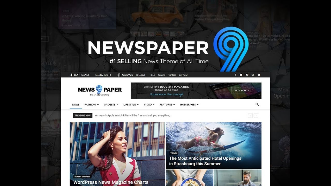 Newspaper 9 WordPress Theme -  Discover the art of publishing. Simplified.