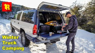 Solo Winter Truck Camṗing - Alone And FREEZING!