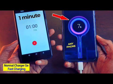 1 min 7% Charged Without Any Fast Charger New Secret Trick | technomind ujjwal fast charging app
