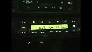 Замена лампочек в блоке климат-контроля Тойота Камри V30 2005г