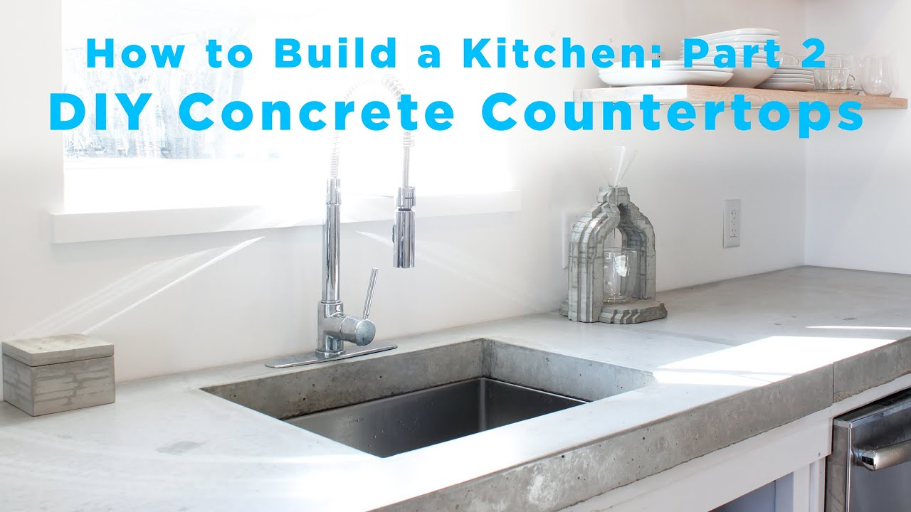 Uncategorized Concrete Kitchen Countertops diy concrete countertops part 2 of the total kitchen series youtube