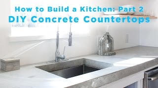 This video shows how to make DIY Concrete Countertops out of Quikrete 5000. It is the second in a series of videos that show a