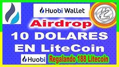 10$ DOLARES LiteCoin | Huobi Wallet regalando 188 LTC Coin Gratis