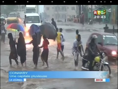 www.guineesud.com - Conakry, capitale mondiale de la pluie : RTG du 16 août 2017