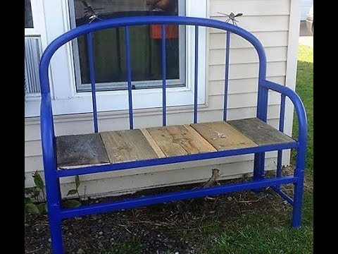 Metal Bed Frame Bench   YouTube