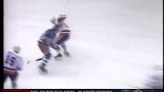 Mike Bossy goal on NY Rangers - Round 1 - 1984