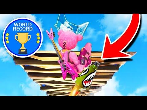 WORLDS FASTEST SKY LIMIT BUILD! Fortnite: Battle Royale