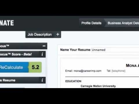 Resunate Is a Smart Automatic Resume Builder That Tailors Your ...