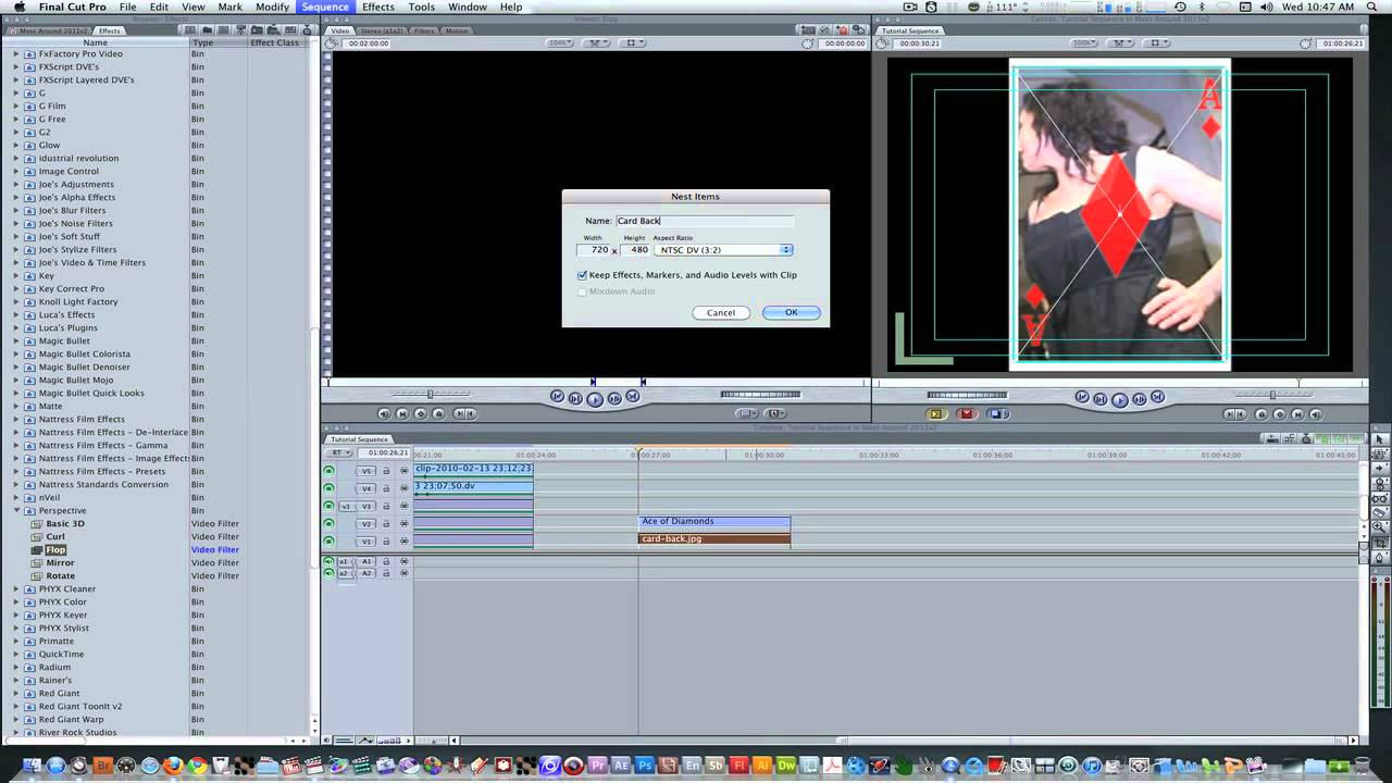Final cut pro tutorial 3 playing card flip animation youtube final cut pro tutorial 3 playing card flip animation ccuart Gallery