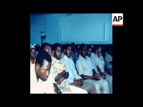 UPITN 8 2 79 NYERERE BROADCASTING SPEECH WITH WARNING TO AMIN