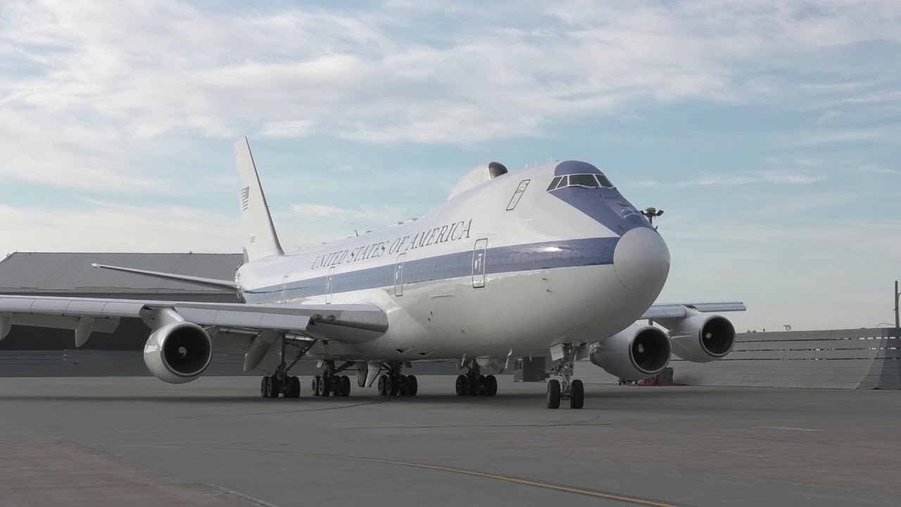 U S Doomsday Plane Takeoff For Exercise