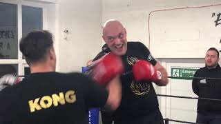 TYSON FURY LATEST! SUPER FAST! 12 round pad session. March 2019 - King's Gym Leicester