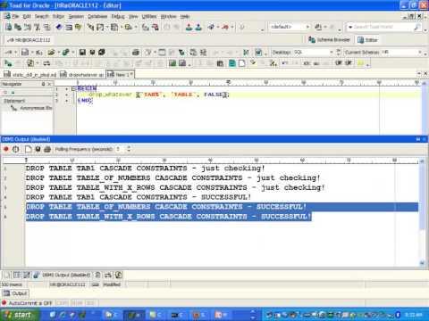 WRITING DYNAMIC SQL IN PLSQL 2