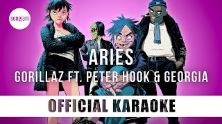 Gorillaz - Aries ft. Peter Hook & Georgia (Official Karaoke Instrumental) | SongJam