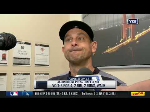 Aaron Boone on the Yankees sweep of the Giants