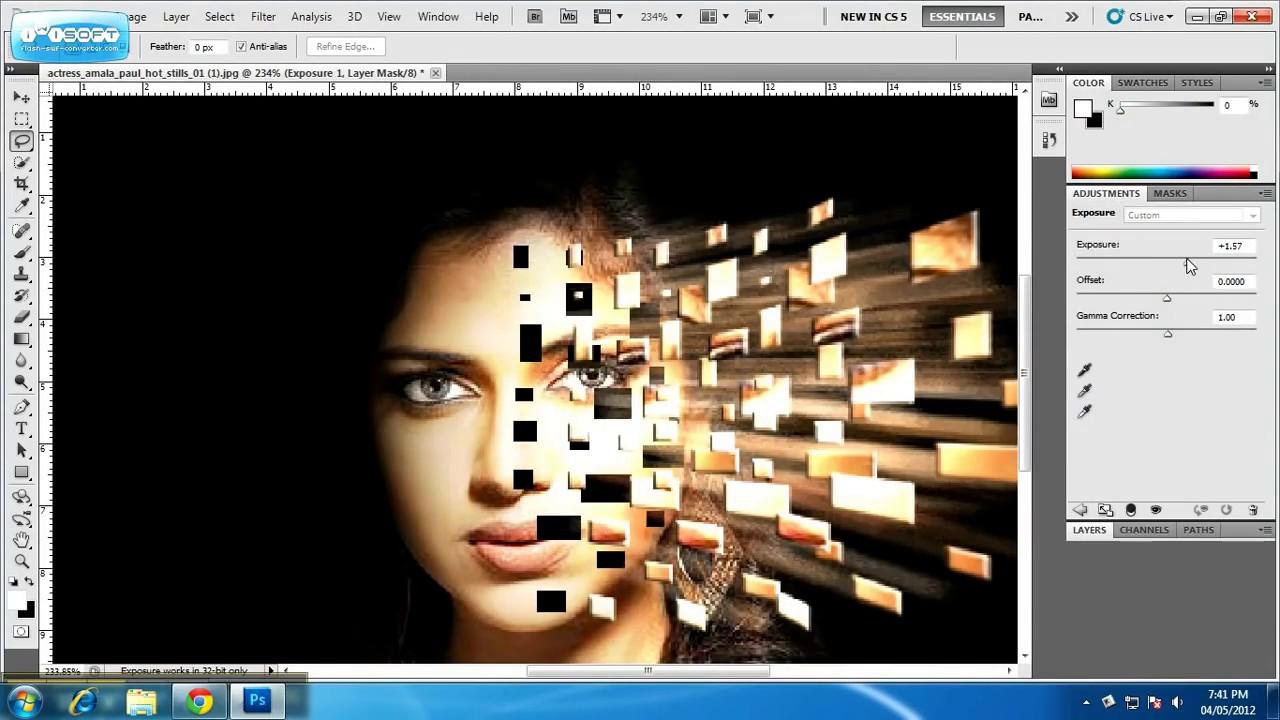 Photoshop Explosion Effect by Ranjith Ramadasan