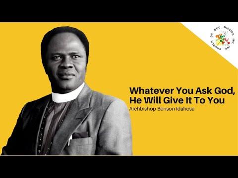 God Will Do It For You - Archbishop Benson Idahosa