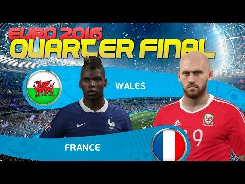 [TTB] PES 2016 Euro 2016 - Double Playthrough -  France vs Wales  - Quarter Final!