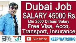 45000 Rs Salary Dubai Jobs | Free Visa, Health Insurance & Accommodation | HINDI URDU | TECH GURU