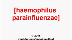 Pronounce Haemophilus parainfluenzae | SpeakMedical