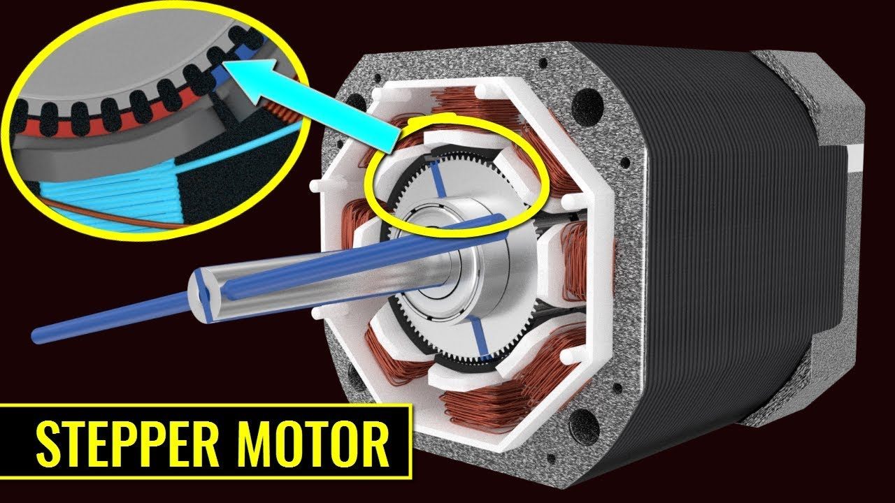 How does a stepper motor work youtube for Dc stepper motor working