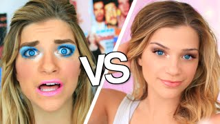 high school you vs child you makeup routine