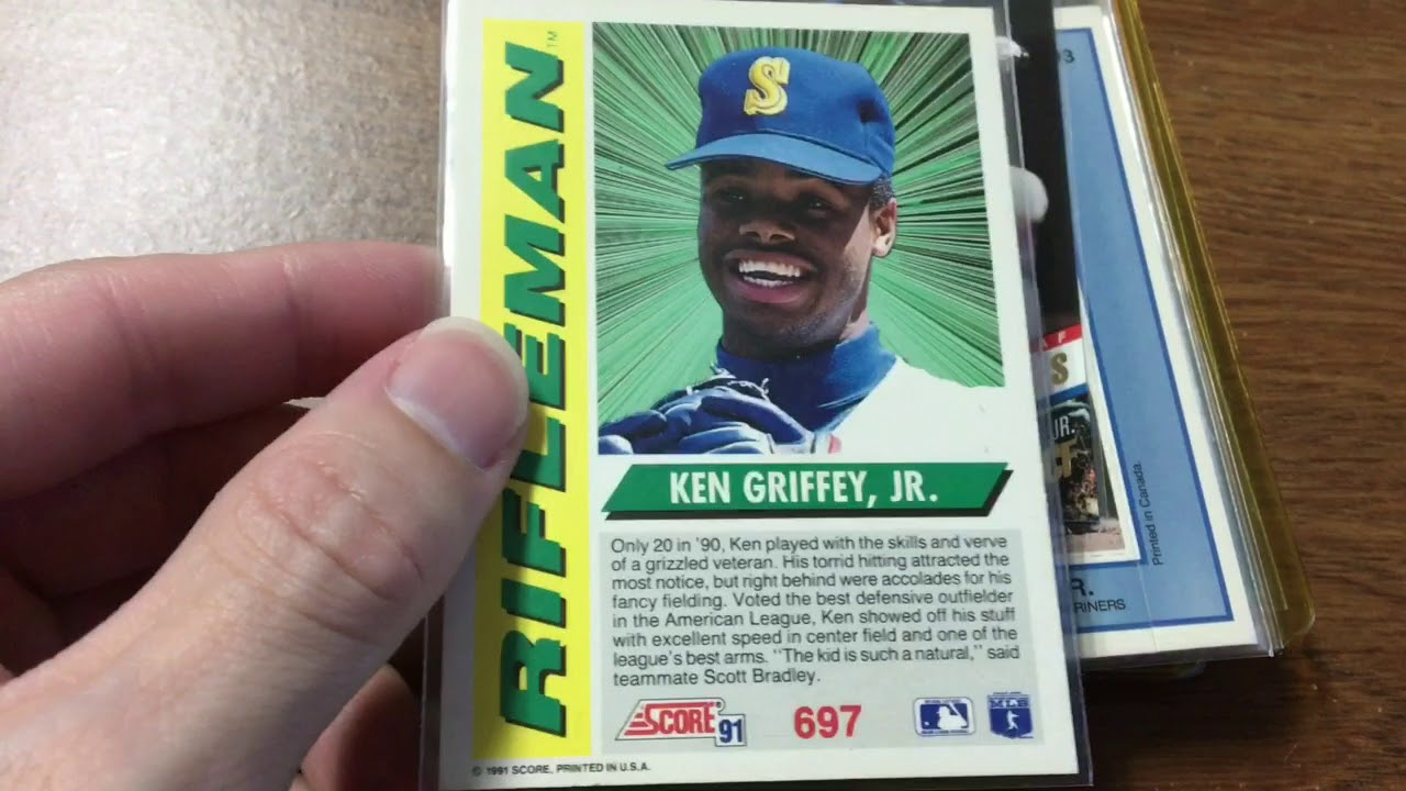 My Old 90s Ken Griffey Jr Baseball Cards Not Worth Much At All
