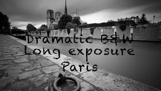 Paris Cityscape Photography - Dramatic black and white long exposures