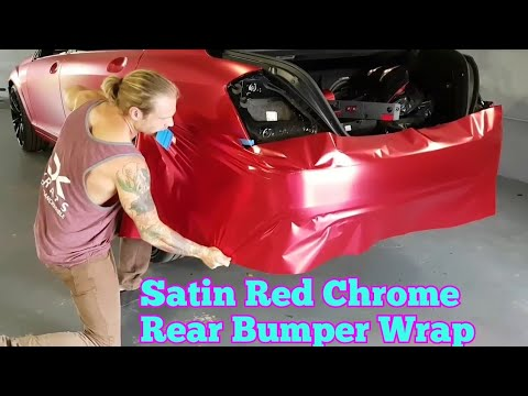 Super detailed  How to vinyl wrap a rear bumper in satin chrome using an  inlay  By @ckwraps