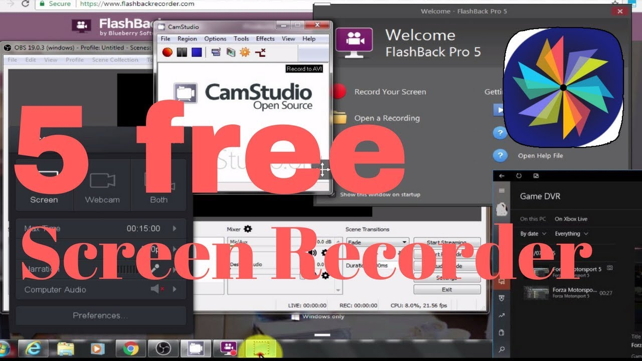 Top 5 Best Free Screen Recorder / Capture software Tools (Windows / Mac /  Linux)