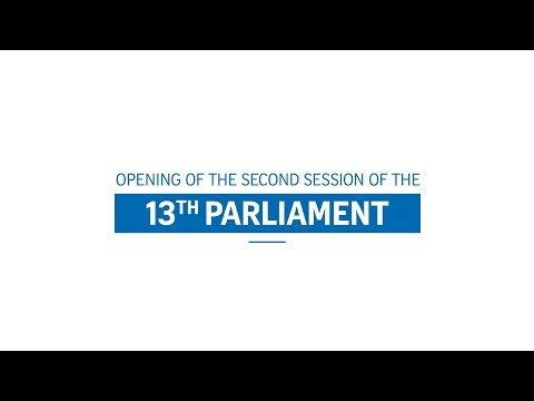 Live: Opening of the second session of the 13th Parliament