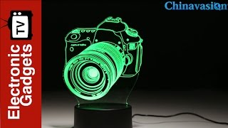 Creative 3D LED Lamp - 2 Light Modes, 7 Colors, Power Through Micro USB