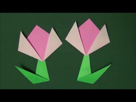 ハート 折り紙:折り紙 チューリップ 簡単-iina117.xyz