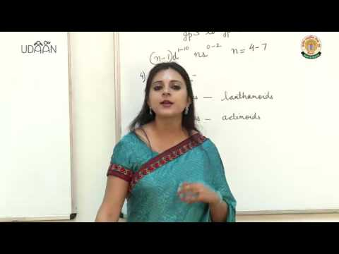 Lecture: Classification of Elements - 1