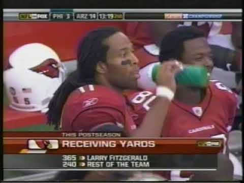 [Highlights] The legendary 2008 postseason run of Larry Fitzgerald