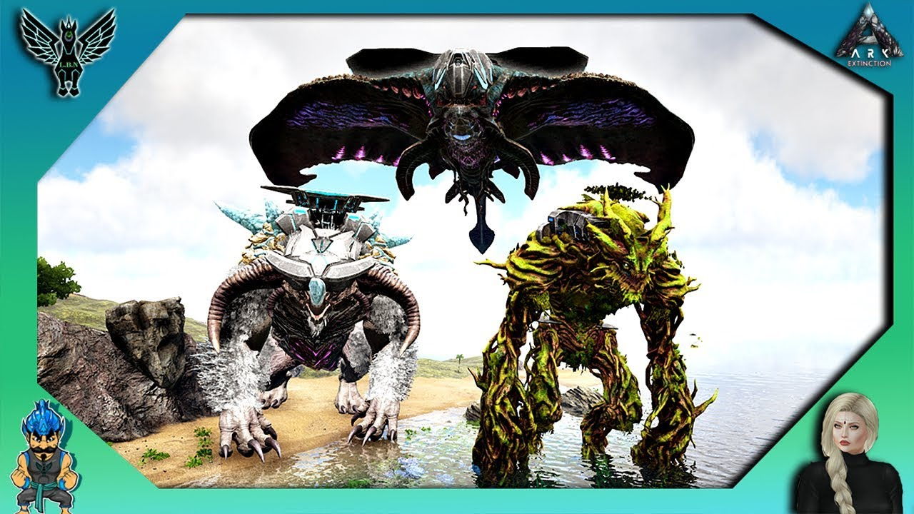 ARK EXTINCTION - TRANSFER TAMED TITANS TO THE OTHER MAPS