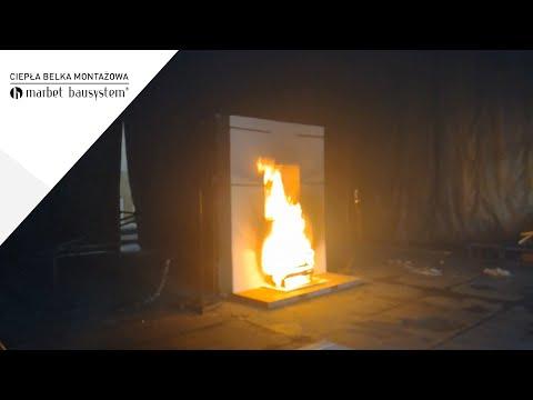 Badanie ogniowe Ciepłej Belki Montażowej Marbet CBM