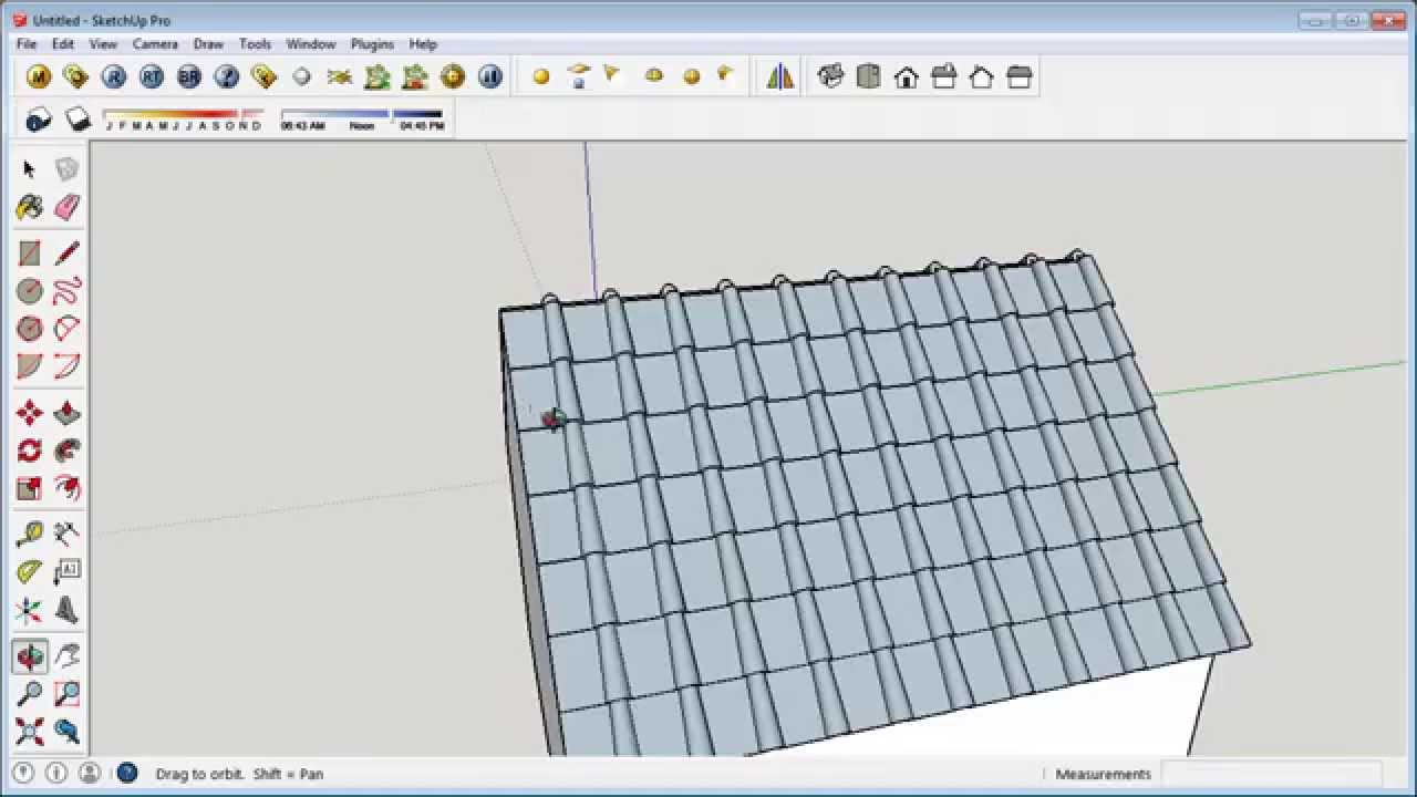 Sketchup Tutorial Realistic Roof Youtube
