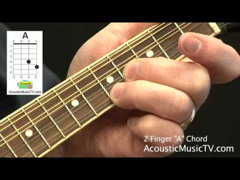 Mandolin playing mandolin chords : How to Play a Two Finger A Chord on the Mandolin • AcousticMusicTV ...