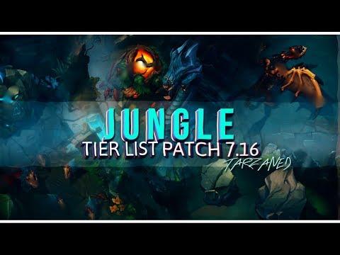 Tarzaned | Rank 1 | Solo Queue Jungle Tier List - Patch 7.16!!!