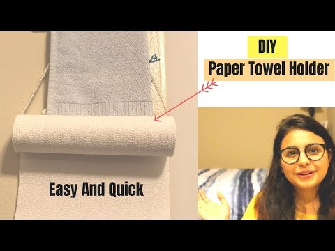How To Make Paper Towel Holder In Just 2 Min,  A Quick & Easy DIY