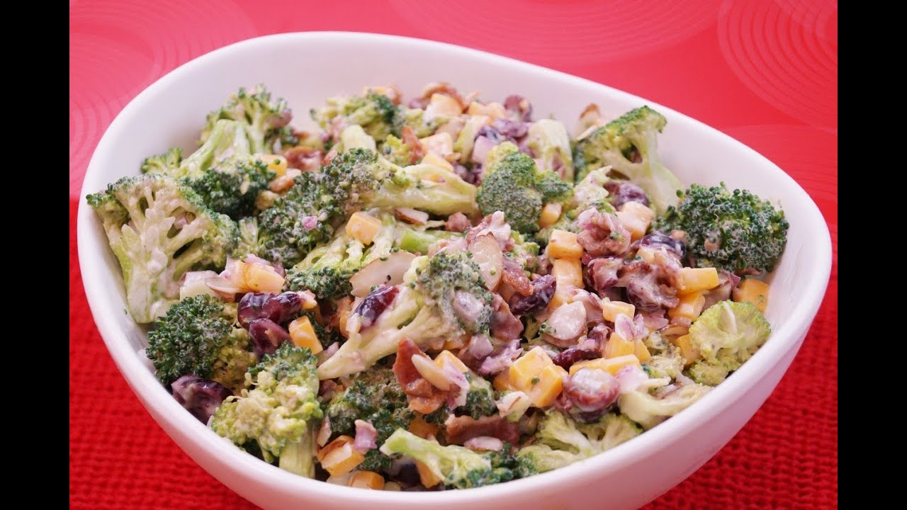 Broccoli Salad Recipe: How To Make Broccoli Salad: Recipe:diane  Kometadishin' With Di #91  Youtube
