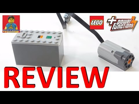 LEGO Power Functions - M Motor 8883 and AAA Battery Box 88000 Review ( PF )