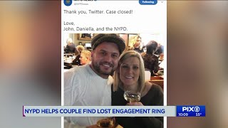 NYPD tracks down couple who lost engagement ring in Times Square after proposal