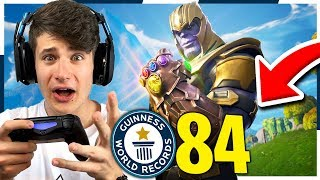 84 KILL CON THANOS!! *NON CREDERAI AI TUOI OCCHI* Record Fortnite ITA