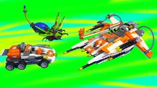 LEGO Space Ship Rover Alien Bug Obliterator Galaxy Squad Action Toy Unboxing Play Video Cookieswirlc
