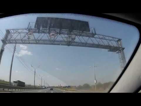 Пересечение границы Белоруссии и России на автомобиле.