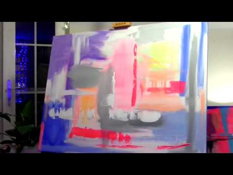 Abstract original painting - Hyper Love by Elizabeth Hornby - Timelapse speed painting -