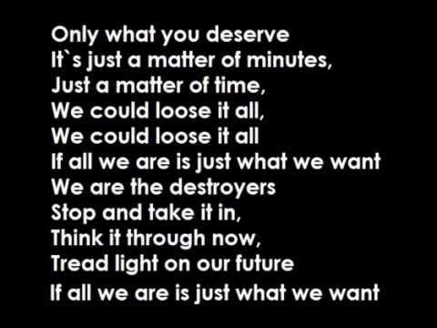 We Are Destroyer lyrics